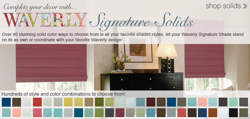Waverly Signature Solid Shades