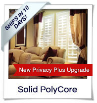 Solid PolyCore Shutters