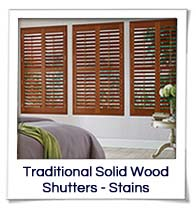 Stained Solid Wood - Shutters
