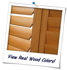Real Wood Shutters FREE Samples