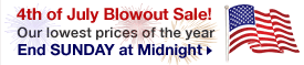4th of July Blowout Sale on Blinds!